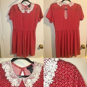 Soft Goth Red Skull Dress